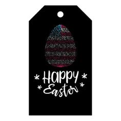 Happy Easter and Easter egg with American flag Gift Tags - happy easter egg holiday family diy custom personalize