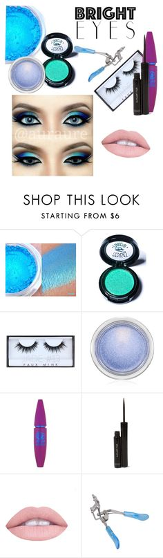 """Contest: Bright Eyes"" by abbey-lou-who ❤ liked on Polyvore featuring beauty, Medusa's Makeup, Huda Beauty, MAC Cosmetics, Maybelline, shu uemura and brighteyes"