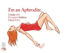 I'm an Aphrodite. I make art. I respect fashion.<br /><br />Original drawing, scanned and printed on x Epson Premium Photo Paper.<br /><br />Shipped in a plastic sleeve, packaged in a folder, wrapped with twine. Greek Goddess Art, Aphrodite Goddess, Goddess Of Love, Greek And Roman Mythology, Greek Gods And Goddesses, Hades And Persephone, Lore Olympus, Ab Workout At Home, Heroes Of Olympus