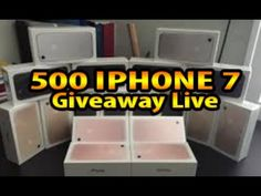 500 IPHONE 7 GIVEAWAY LIVE! 🔴 FREE 🔥 BIGGEST GIVEAWAY EVER! - YouTube