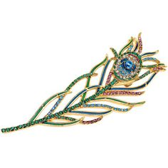 The Met Store -  Peacock Feather Brooch