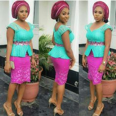 Beautiful Aso Ebi Short Skirt and Blouse Style .... Beautiful Aso Ebi Short Skirt and Blouse Style