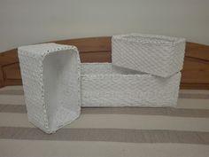 Pletene kose v bielom