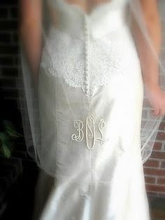 Monogrammed Veil (with new initials!)