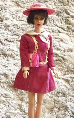 <0>Vintage Barbie Japanese Exclusive Pink Dress #Mattel