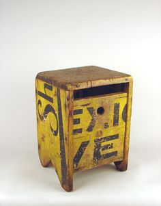 Pirtle Object & Assemblage, Burma Shave Typographic Stool, Leslie Pirtle