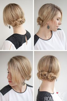 Hair Romance - 30 Buns in 30 Days - Day 4 - triple twisted bun hairstyle