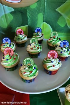 These PJ Masks birthday party ideas will go into the night to save the day! Your little super hero will love the fun games, treats and decoration ideas! 4th Birthday Party For Boys, Birthday Dinner Menu, Third Birthday, Birthday Ideas, Pjmask Party, Party Cakes, Party Ideas, Pj Max, Pj Mask Party Decorations