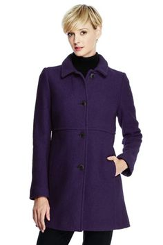 Women's Boiled Wool Coat from Lands' End, size 10