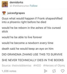 O_O THIS COULD BE LEGIT Image result for frank zhang pre and post house of hades