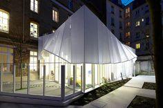 Epée de Bois nursery by h2o architects in the center of Paris. http://design-milk.com/epee-de-bois-nursery-h2o-architectes/
