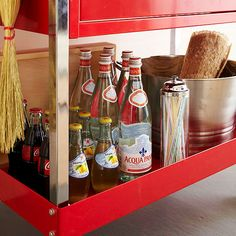 Store-It-All Space - The cart's lower shelf is perfect for storing bulky items such as glass bottles and an ice bucket. The drawer of the cart can be used to store smaller items, such as outdoor table linens and decor. Since the cart is mobile, wheeling it to and from the garage and the entertaining space is quick and easy.