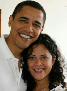 Obama and his sister!