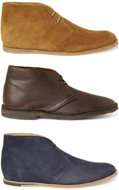1. Opening Ceremony M1 Suede Desert Boots in Brown / 2. J.Crew Macaslister boots   M1 Suede Desert Boots / 3. Opening Ceremony M1 Suede Desert Boots in Blue
