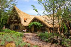 Snow White and the Seven Dwarfs cottage in the new Fantasyland at Walt Disney World