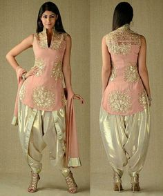 Georgette In Kurta & Dupatta, Simar In Dhoti Salwar Salwar Designs, Kurti Designs Party Wear, Blouse Designs, Pakistani Dresses, Indian Dresses, Indian Outfits, Designer Party Wear Dresses, Indian Designer Outfits, Patiala Dress