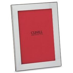 A style designed to agree with all tastes; our Cunill Plain Picture Frame is fashioned of a single sheet of lacquered sterling silver.