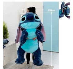 Disney Stitch Doll Plush Lying Cushion Girl Lilo and Stitch Toy BRAND NEW I want this more than a giant teddy bear.