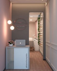 Home Nail Salon, Nail Salon Design, Nail Salon Decor, Salon Interior Design, Beauty Salon Design, Beauty Salon Interior, Makeup Studio Decor, Salons Decor, Hair And Nail Salon