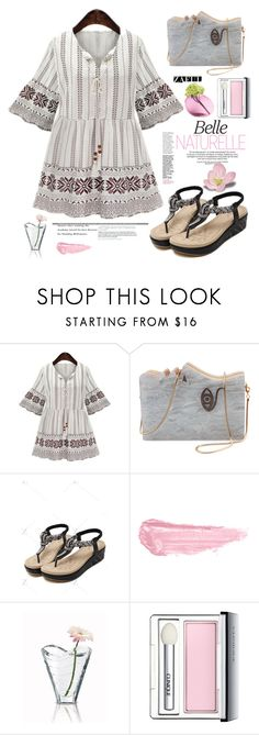 """""""Zaful.com: Belle Naturelle"""" by hamaly ❤ liked on Polyvore featuring By Terry, Baccarat, Clinique, Dot & Bo, shoes, ootd, dresses, bags and zaful"""