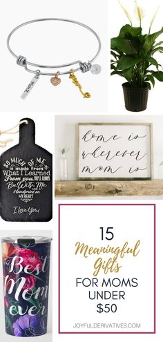 Make Mom's day special without breaking the bank. These 15 gifts are meaningful and budget-friendly. They all come in under $50! Table Setting Inspiration, Holiday List, Planner Tips, Best Planners, Mom Day, Meaningful Gifts, Diy Cards, Joyful, Decorating Tips