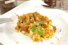 Grüne Bohnen und Zimt-Kombi aus Marokko...sensationel lecker! http://www.umgekocht.de/2015/05/veganes-marokkanisches-reisgericht-lubia-pollo/
