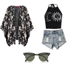 Untitled #9 by adenvait on Polyvore featuring polyvore, fashion, style, Boohoo and Ray-Ban