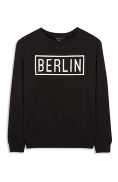 """Primark - Schwarzes """"Berlin"""" Sweatshirt"""