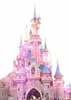 Imagen de disney, pink, and castle