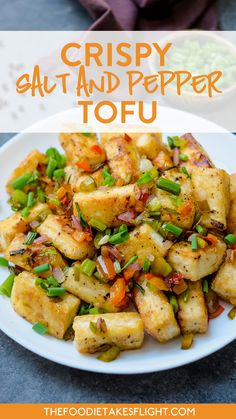 Crispy Salt and Pepper Tofu (Vegan) My take on the Chinese style salt and pepper tofu made with really simple ingredients! This one is of course vegan. Perfect with some steamed rice! Vegan Recipes Easy, Asian Recipes, Whole Food Recipes, Vegetarian Recipes, Cooking Recipes, Chinese Tofu Recipes, Keto Recipes, Ovo Vegetarian, Vegetarian Cooking