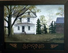 billy jacobs | Billy Jacobs Framed Old Country Farm House Spring | eBay