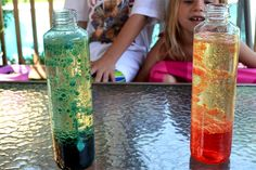 Use tonic water for glowing lava lamp?  ~ DIY Lava Lamp - http://www.pbs.org/parents/crafts-for-kids/diy-lava-lamp/