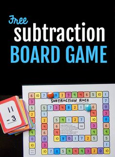 This simple subtraction activity will help kids in kindergarten and first grade practice their basic facts. The free subtraction game includes free subtraction flash cards, too! - Kids education and learning acts Subtraction Kindergarten, Subtraction Activities, Kindergarten Games, Math Activities, Numeracy, Leadership Activities, Therapy Activities, Kindergarten Addition, Preschool Learning