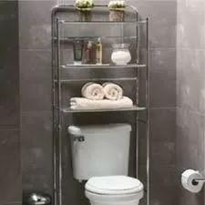 Mueble organizador ba o repisa acero toallas sobre inodoro for Mueble sobre inodoro