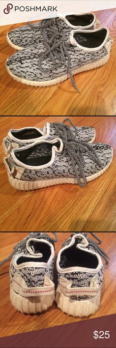 YEEZY BOOST 350 TURTLE DOVE most comfortable shoes I have ever worn. They went on a trip to Disney for 8 days and were the best shoe I have ever been in for walking. Not yeezy, but they look just like it. I got many compliments and people staring. They are a 6/36 but I'm a 5.5 and I wore them. Yeezy Shoes Sneakers