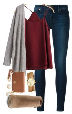 """POLY-ANNA @remiii13 set one"" by elizabethannee ❤ liked on Polyvore featuring J Brand, Tory Burch, Dolce Vita and POLYanna"