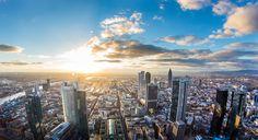 Farbe - Skyline - Frankfurt a. M. - Leinwand - ein Designerstück von Deutschland-abgelichtet bei DaWanda
