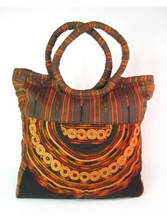 Fair trade, earth tone shopping tote  Earthtone Hobo Bag by Coleccion Luna. Their bold collection helps many indigenous women in Guatemala, focused on empowering women, alleviating poverty, preserving traditions and most importantly promoting cultural diversity and understanding!