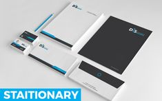 Simple and Clean Stationary Corporate Identity Template Letterhead Design, Stationery Design, Business Card Design, Business Cards, Compliment Slip, Corporate Identity Design, Folder Design, Presentation Folder, Clean Design