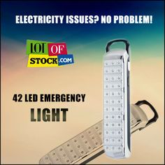 "Behold the power of 42 LED's! Say bye-bye to candles and say hello to our 42 LED recharchable emergency light!  ""http://goo.gl/gwX4kz"""
