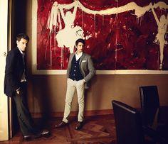 Alberto and Tancredi Alemagna, Milan, January 9, 2012.   - Esquire.com