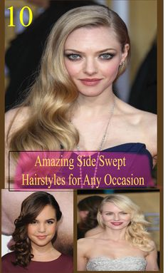 Looking for a Super Gorgeous Side Swept Hairstyles? Today I am going to share ten super Super Gorgeous Side Swept Hairstyles with you, find the best one !!