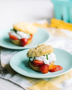 """Strawberry Vanilla Shortcakes 
