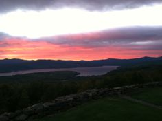Sunset over Newfound Lake from Coach Rd Retreat www.newenglandmoves.com/Dean.Eastman