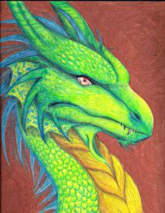 Acid Green Dragon by LivingAliveCreator.deviantart.com on @DeviantArt