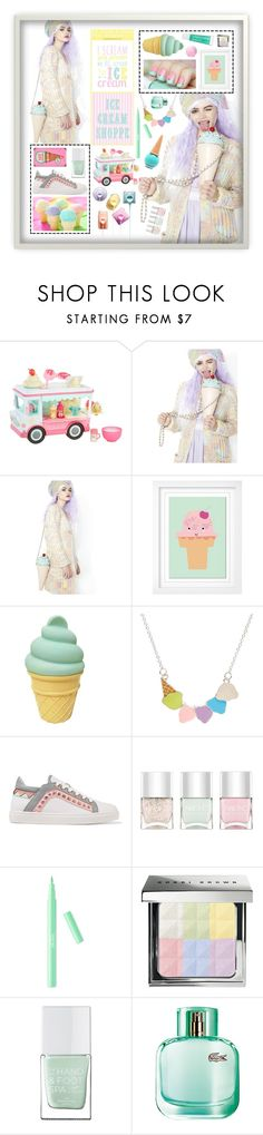 """Pastel cream"" by beanpod ❤ liked on Polyvore featuring Sugarbaby, Pillowfort, Benetton, Sophia Webster, Nails Inc., Bobbi Brown Cosmetics, Etude House, The Hand & Foot Spa and Lacoste"
