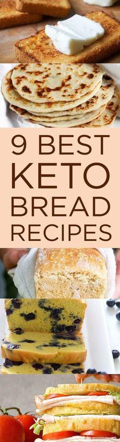 9 Best Keto Bread Recipes That'll Make You Forget Carbs Low Carb Keto, Low Carb Bread, Bread Carbs, Keto Diet Foods, Keto Diet Drinks, Best Keto Meals, Keto Snacks, Ketogenic Desserts, Keto Diet Plan