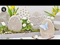 DIY - Osterdeko / Frühlingsdeko selber machen | Osterei aus Beton | Shabby Stil - YouTube