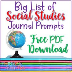 Big List of Social Studies Journal Prompts – A Growing List education management languages arts studies education 7th Grade Social Studies, Social Studies Projects, Social Studies Lesson Plans, Social Studies Notebook, Social Studies Worksheets, Social Studies Classroom, Social Studies Activities, Teaching Social Studies, Teaching Writing
