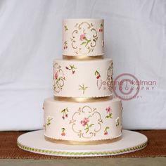 Gold Wedding Cakes Wedding Cakes Photos on WeddingWire
